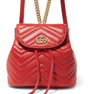 GUCCI RED MARMONT MINI BACKPACK